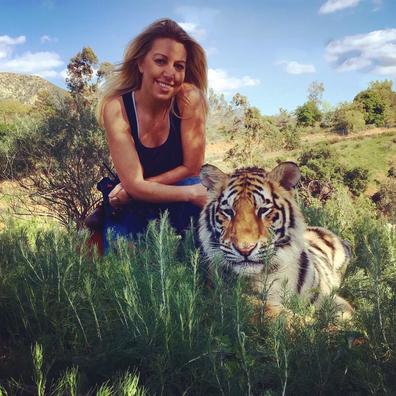Andrea Kelley and Mira the tiger